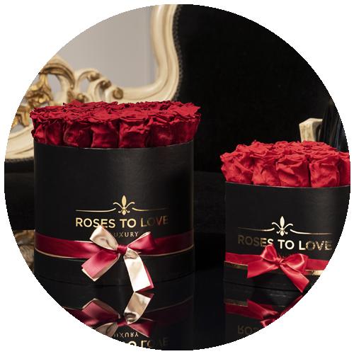 Decoración con rosas preservadas